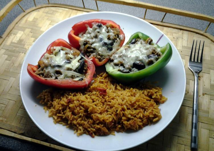 Spicy Stuffed Chilli Bell Peppers