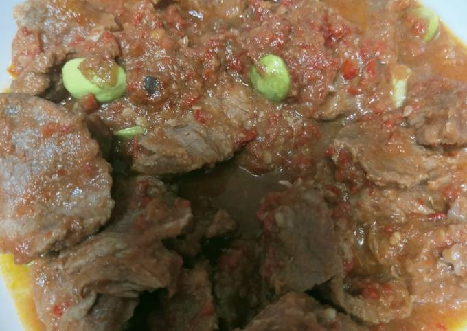 daging sapi pete sambal tomat - resepenakbgt.com