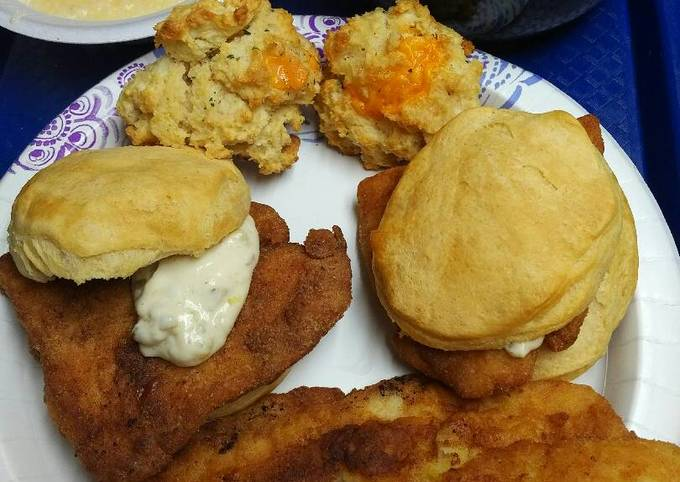 Fish Biscuits, (American Biscuits)