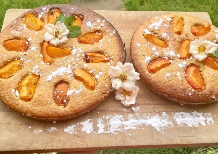 Recette: Délicieux Moelleux à l'abricot et à la pistache (sans gluten / sans lactose)