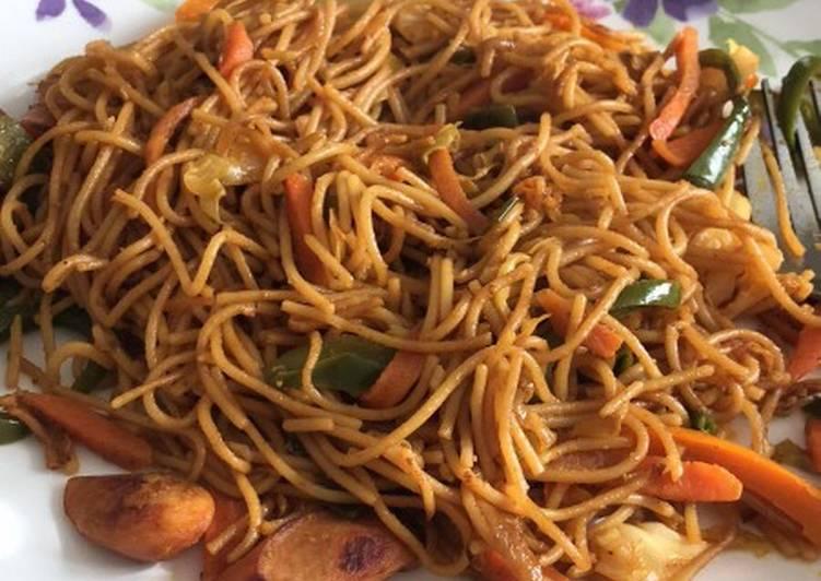 Egg noodles WD chicken sausage