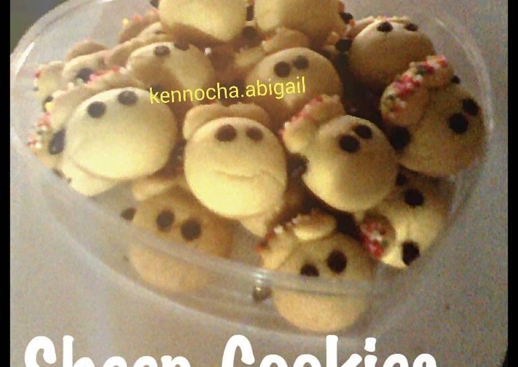 Sheep Cookies / Kukis Kambing - cookandrecipe.com