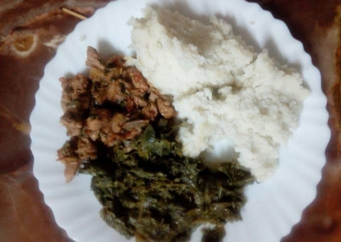 Pork with ugali
