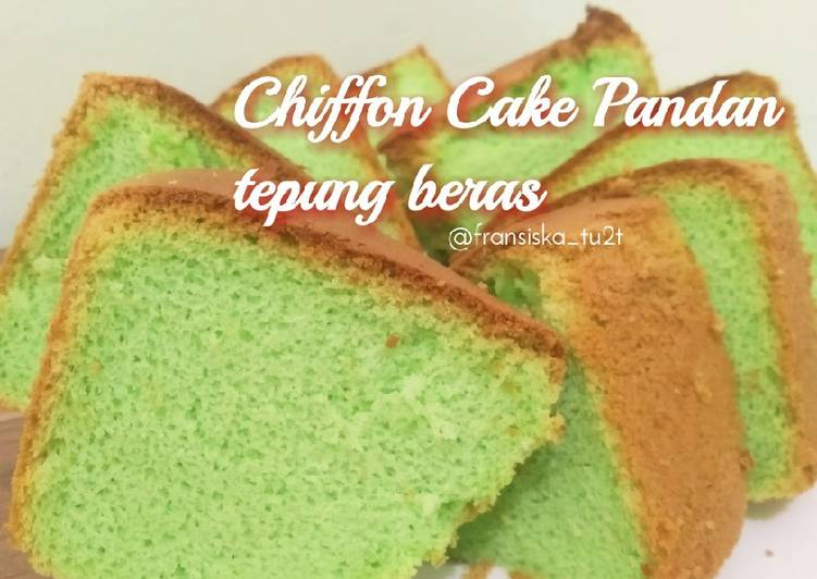 Chiffon Cake Pandan Tepung Beras - cookandrecipe.com