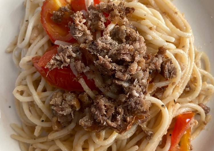 Recipe: Appetizing Garlic Longganisa Tomato Pasta