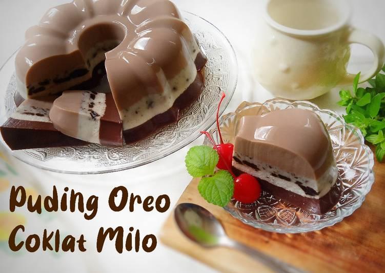 Puding Oreo Coklat Milo