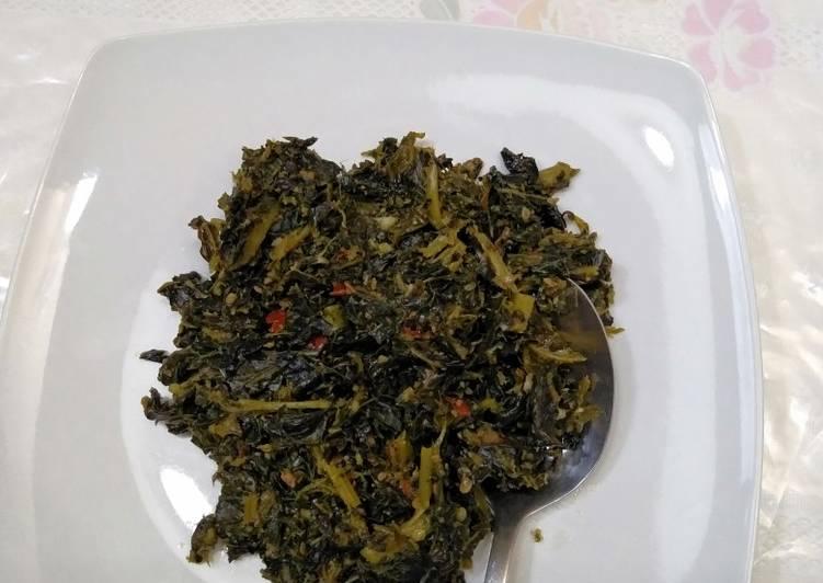 Tumis daun Pepaya+daun singkong enakk