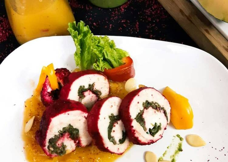 Sumac Chicken Roulade In Pumpkin Puree - Laurie G Edwards