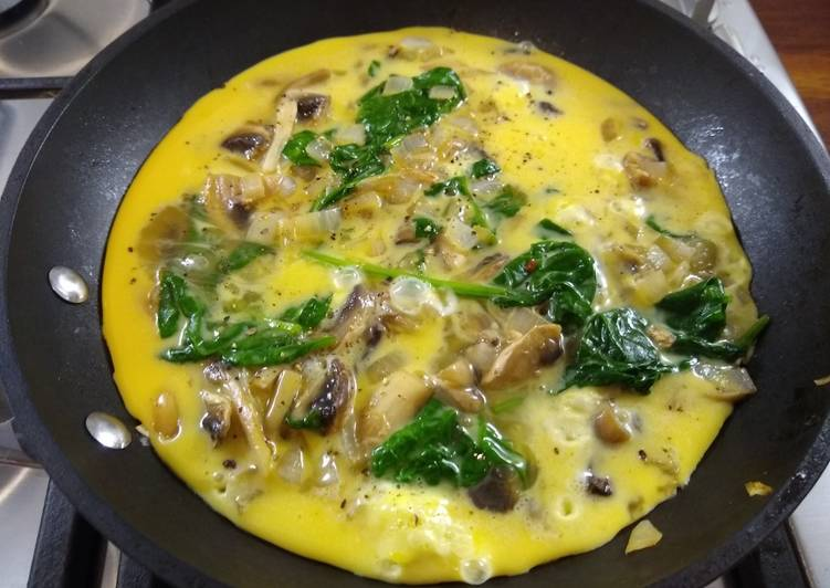 No-Cheese Veggie Omelette