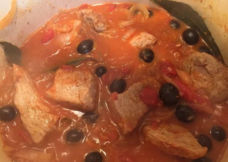 recette Mijoté de veau à la tomate délicieux
