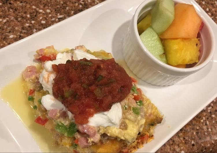 Southwest breakfast lasagna