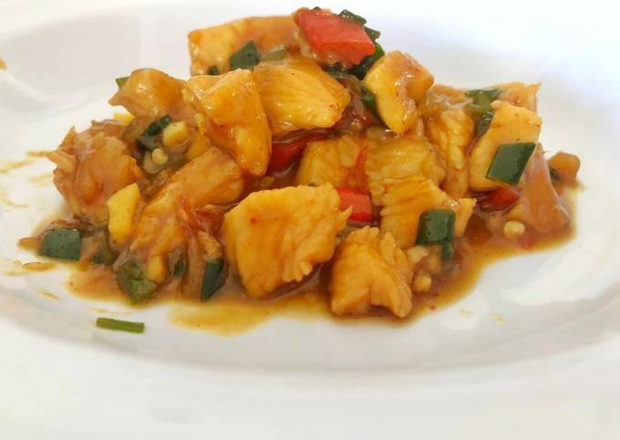 Bagaimana Membuat Ayam saus barbeque (menu diet sehat tanpa minyak), Enak Banget