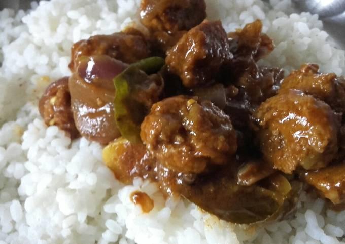 Recipe: Tasty Meat balls gravy with rice
