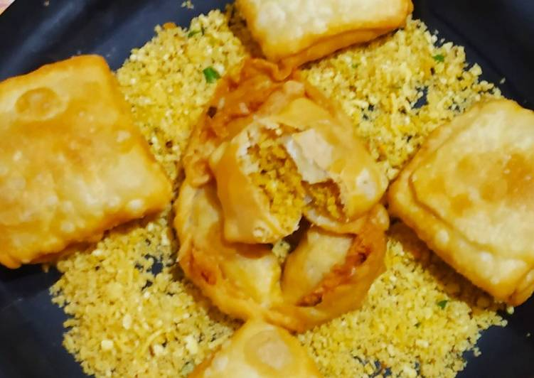 10 Minute Simple Way to Prepare Award Winning Sev Gathiya Packet Samosa