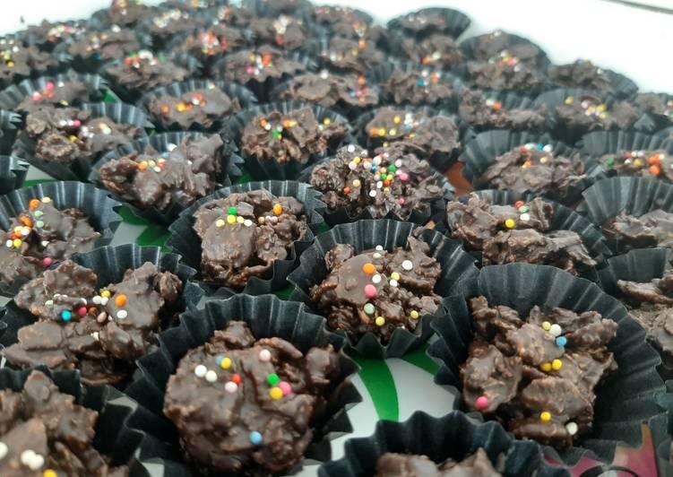 Cornflakes coklat with springle sederhana cuma 3 bahan
