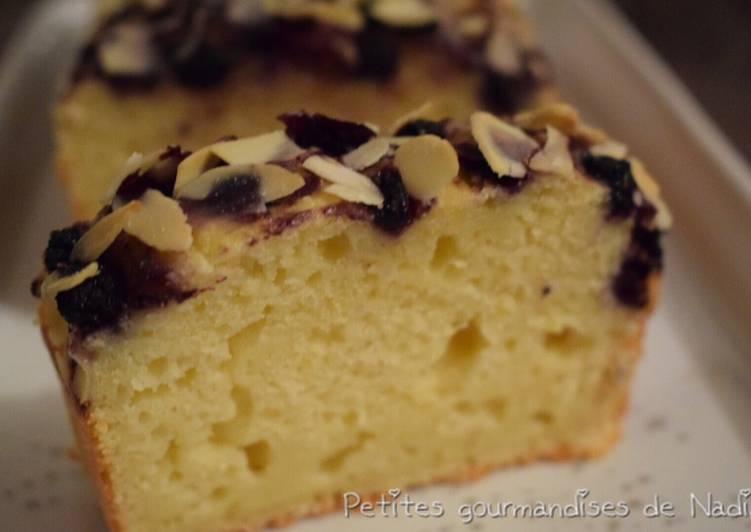 Cake ricotta citron myrtille
