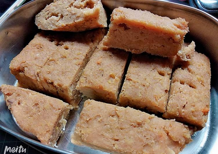 Recipe: Delicious Soft, moist sweet potato blondie