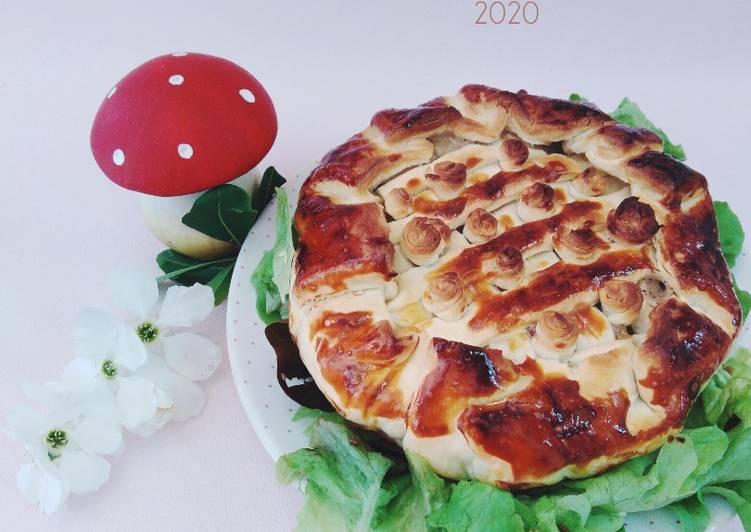 Recipe: Delicious Tourte au poulet et aux champignons