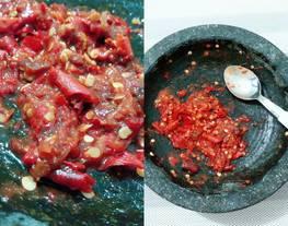 Sambal asem / sambel sayur asem / sambal terasi asem seger