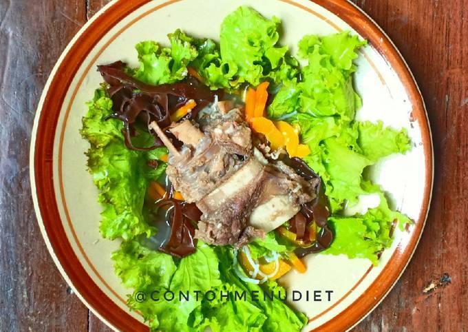 Sop iga empuk selada segar turun bb diet