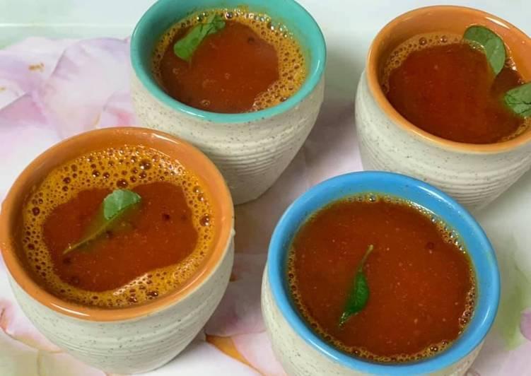 Simple Way to Prepare Super Quick Homemade Beetroot tomato Rasam
