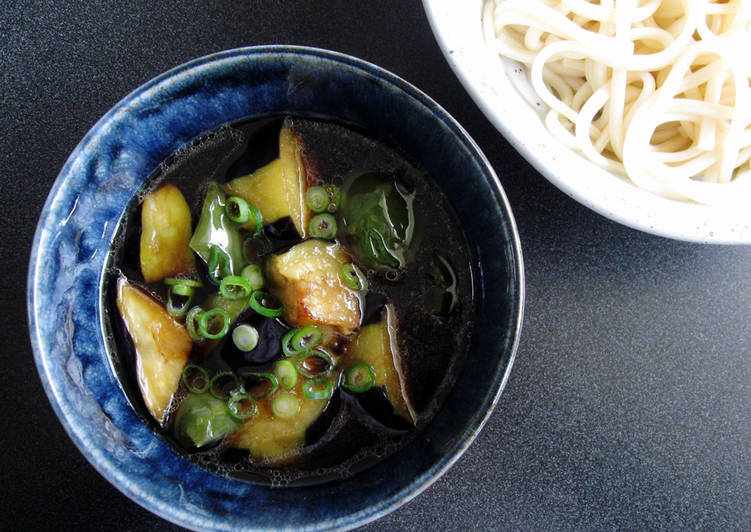 Steps to Make Quick Noodle Dipping Sauce With Fried Eggplant