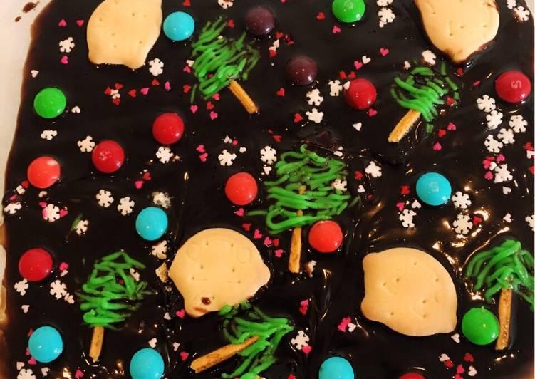 Christmas Dark Chocolate Bark