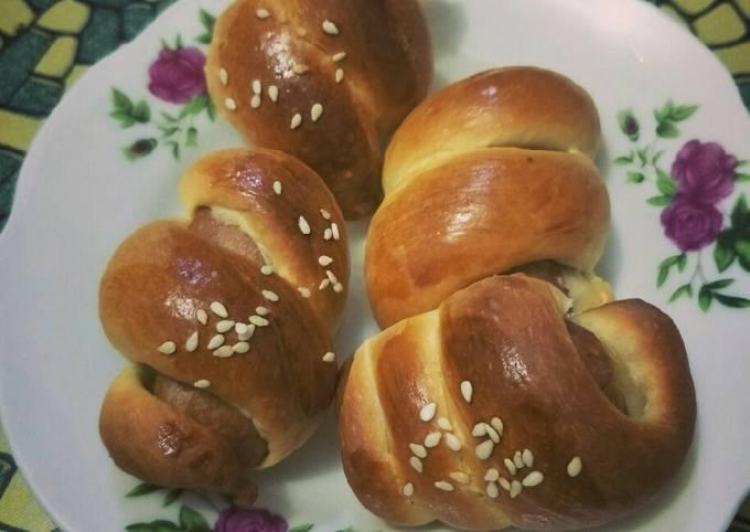Roti Bun mini cheese sosej