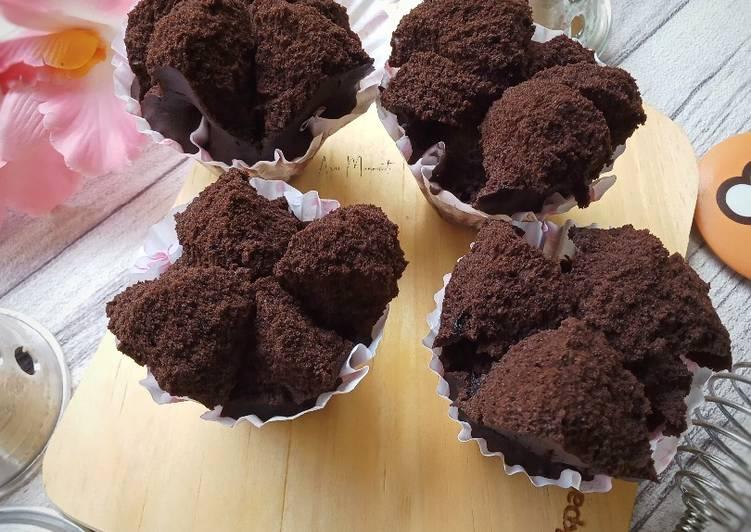 Brownies Mekar Tepung Beras (eggless)