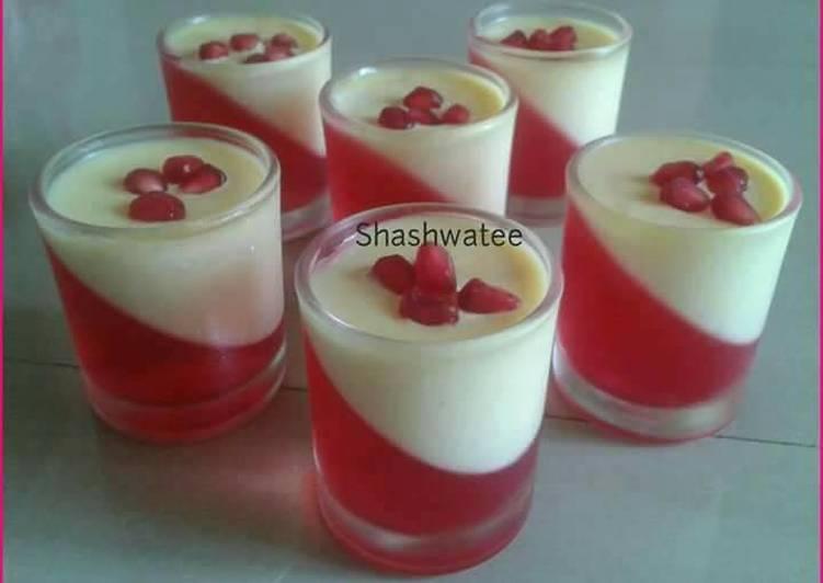 Custard Jelly Pudding Recipe By Shashwatee Swagatica Cookpad