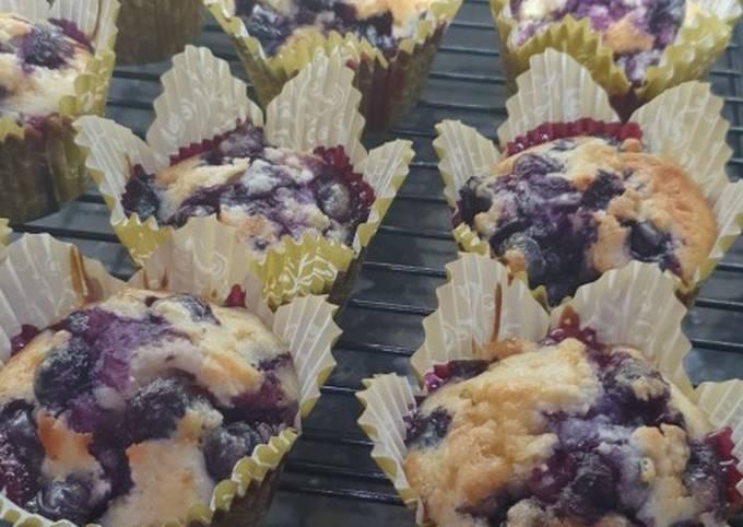 Steps to Make Speedy Blueberry muffins