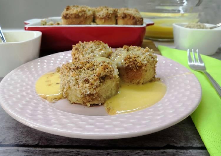 Glutén- és tejmentes aranygaluska, vanília sodóval recept foto