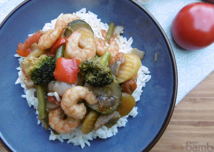 Simple Way to Prepare Speedy Stir – Fry Shrimps & Veggies with Rice (Laxanika me Garides kai Ryzi)