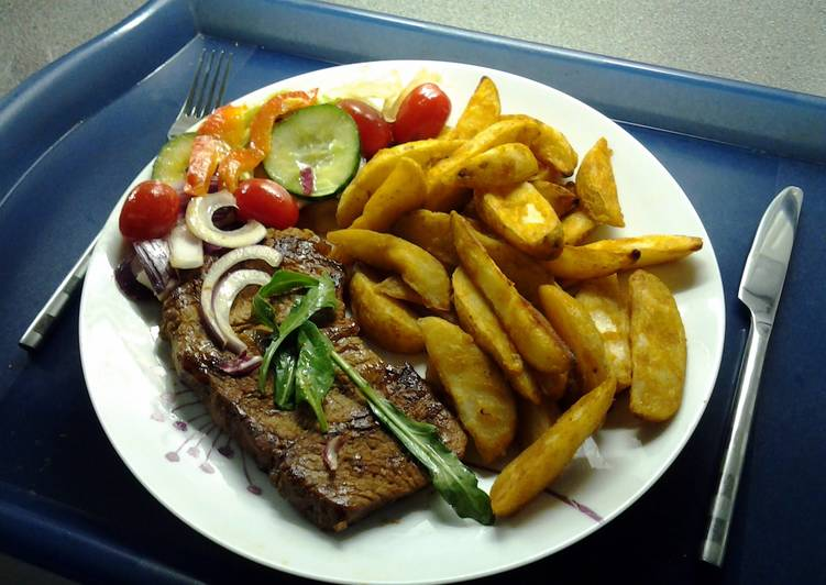 Chargrilled Steak & Spicy Wedges