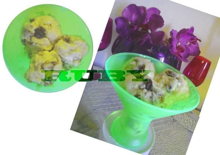 La glace du Rhum et des raisins secs