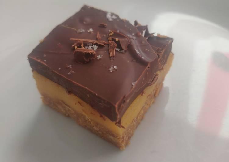 Simple Way to Prepare Award-winning Dark Chocolate Millionaire Biscuit Squares