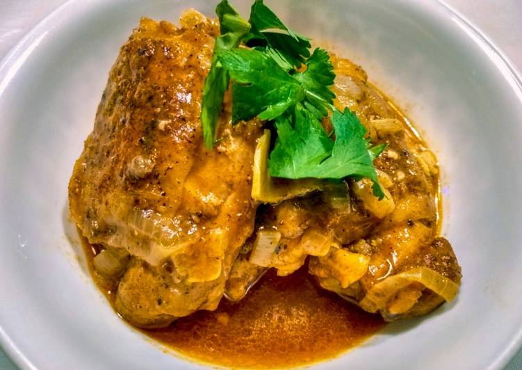 Recipe of Favorite Chicken Braised in Coconut and Tomato