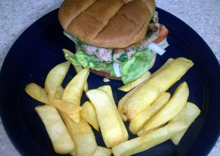 Chicken Spinach Burgers