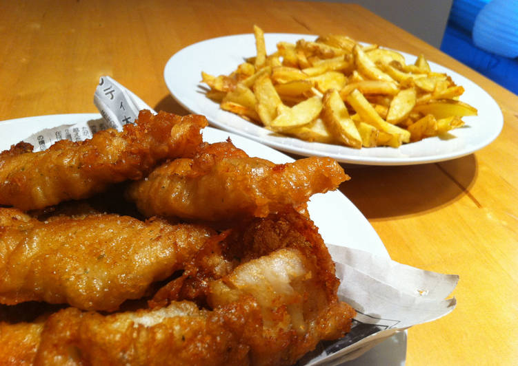 Easiest Way to Make Speedy Beer Battered Fish and Chips