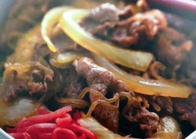 25 Minute Easiest Way to Make Award Winning Gyudon ~ beef on rice