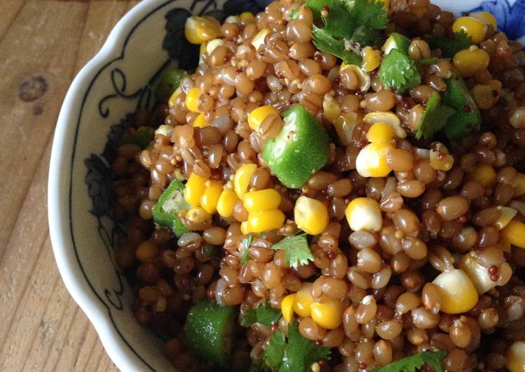 The Best Soft and Chewy Dinner Ideas Royal Wheat Berry Salad with Corn and Okra