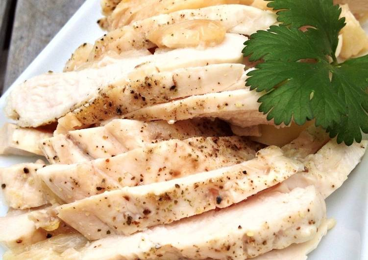 Perfectly Moist and Juicy Steamed Chicken Breast