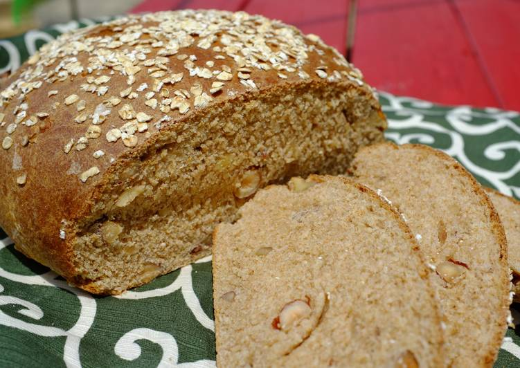 Recipe of Super Quick Homemade Nutty Whole Wheat Bread