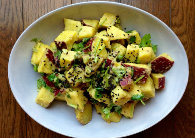 Sweet Potato Salad with Mustard Dressing