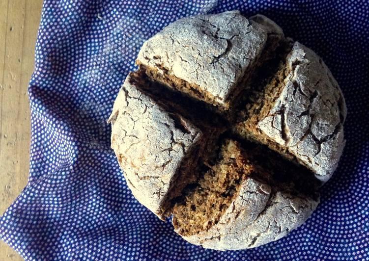 How to Make Quick Mini Rye Flour Soda Bread with Molasses