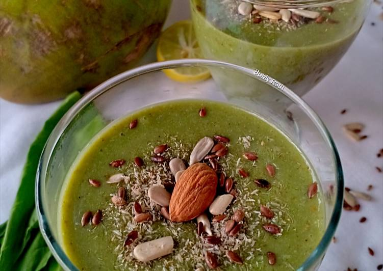 What are some Dinner Ideas Quick Spinach psyllium coconut smoothie with FSA