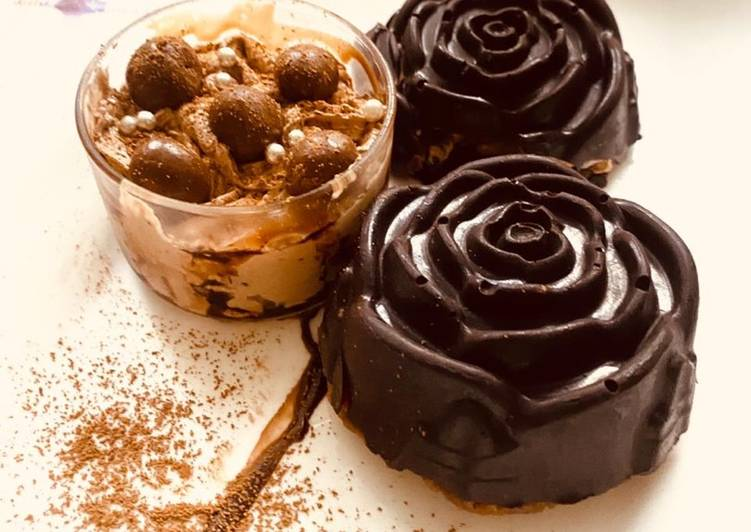 Recipe of Perfect Rose shaped chocolate mousse cups