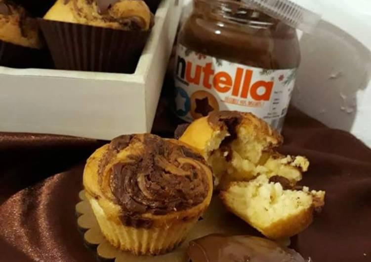 ☆Cupcakes Marbrés au Nutella©☆