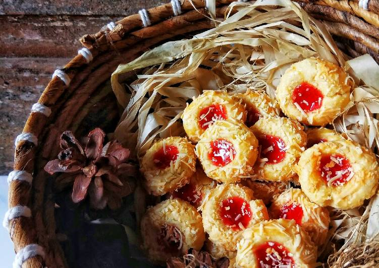 Cheese Strawberry Thumbprint Cookies