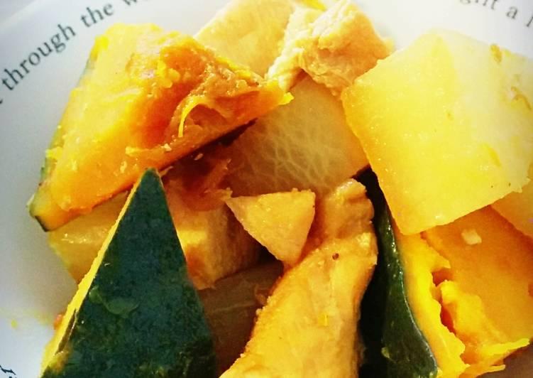Steps to Prepare Super Quick Homemade Chicken and Pumpkin Amakarani